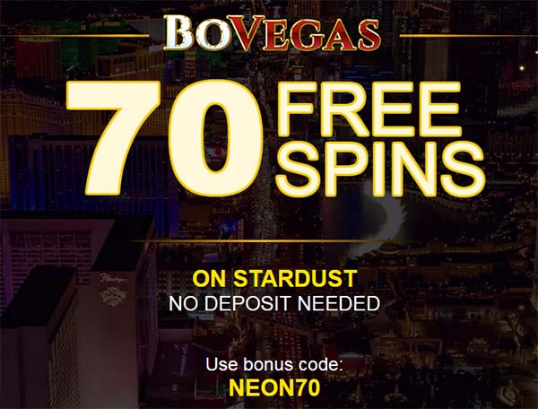 New 70 Free No Deposit Spins At Bovegas Casino Plus 250